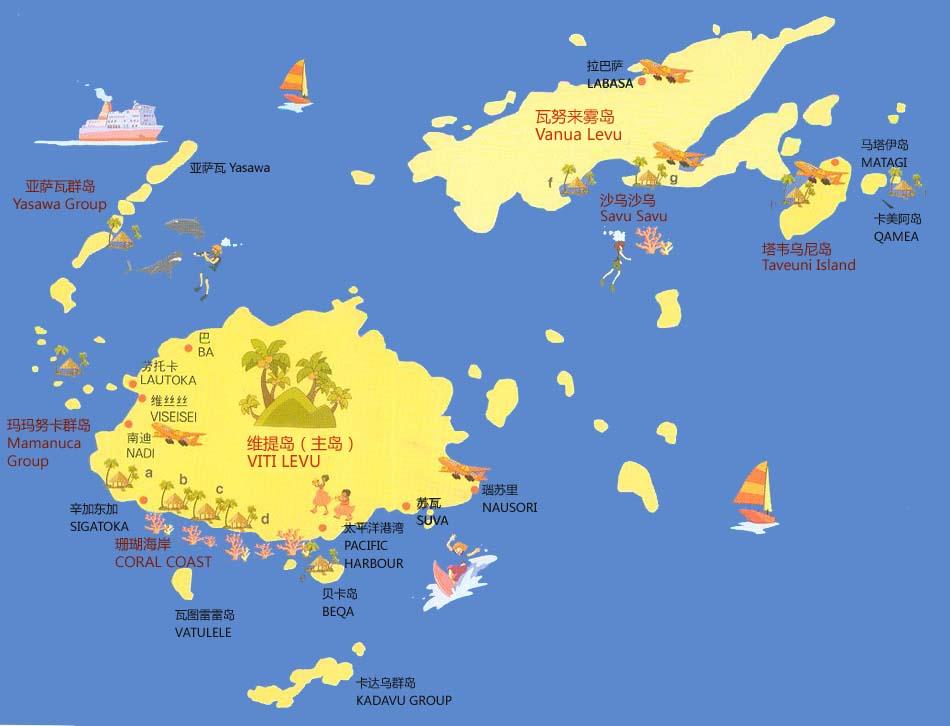 游客可以乘双桅杆帆船出海探访荒岛,感受现代鲁滨孙的传奇生活.